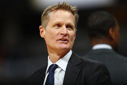 L'entraîneur des Warriors de Golden State Steve Kerr.... (Photo David Zalubowski, AP)