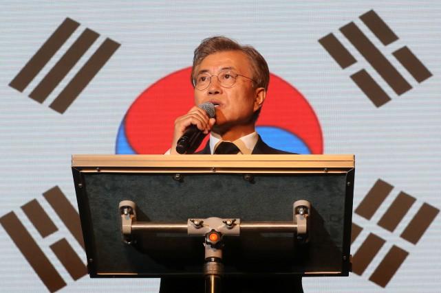 Le nouveau président sud-coréen, Moon Jae-In.... (Photo archives Agence France-Presse)