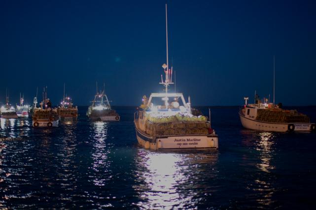 Après une semaine d'attente, les 325 homardiers ont... (PHOTO FOURNIE PAR NIGEL QUINN)