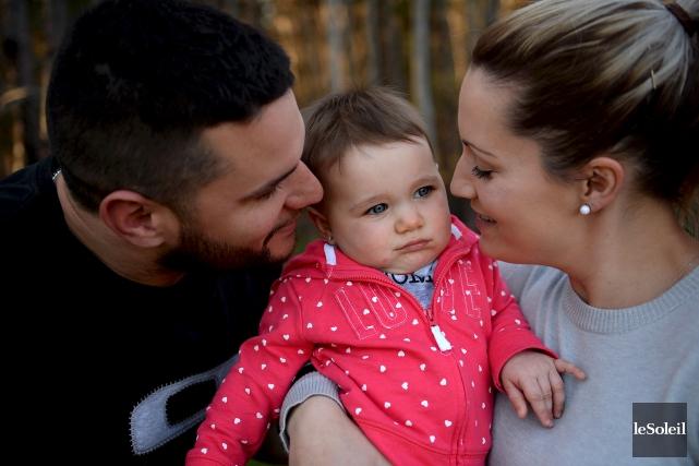 Sophie Durand et Maxime Robitaille ont donné naissance... (Le Soleil, Erick Labbé)