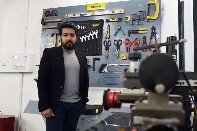 Pour obtenir son imprimante 3D, Saurabh Ahuja a... (Money SHARMA, archives AFP)
