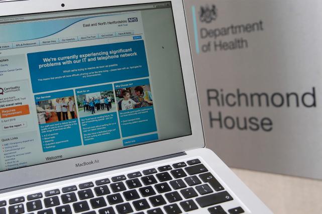 Le département de la Santé britannique a été... (AFP, Daniel Leal-Olivas)