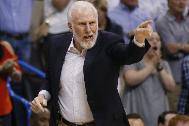 Gregg Popovich, ancien officier de l'Armée de l'Air... (Photo Sue Ogrocki, AP)
