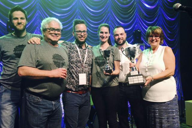 L'équipe de la Microbrasserie Coaticook a remporté les... (Photo fournie)