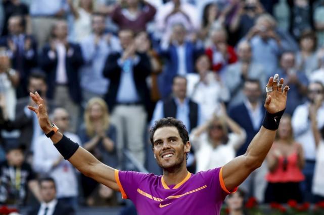 Rafael Nadal a défait Dominic Thiem 7-6 (8),... (Agence France-Presse)
