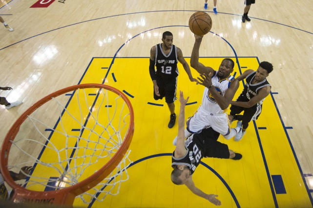 Kevin Durant des Warriors de Golden State a... (AP)