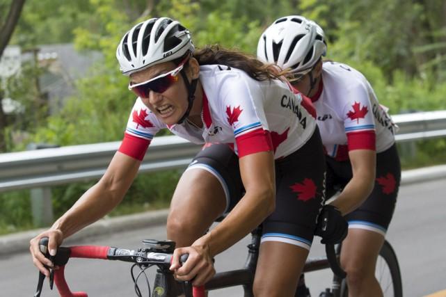 Audrey Lemieux, et sa coéquipière Robbi Weldon.... (Courtoisie)