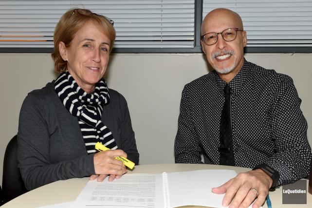 Gina Gagnon, directrice des Services aux étudiants, et... (Le Quotidien, Rocket Lavoie)