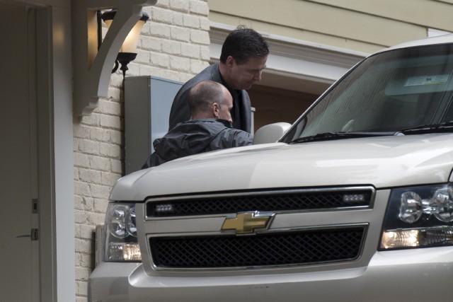 L'ancien directeur du FBI James Comey quittant sa... (AP, Sait Serkan Gurbuz)