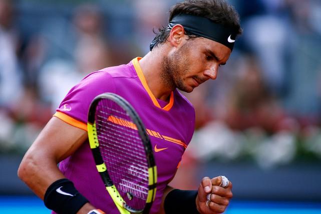Rafael Nadal... (PHOTO OSCAR DEL POZO, AGENCE FRANCE-PRESSE)