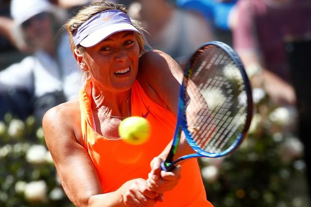 Triple championne à Rome, MariaSharapova est encore en... (Tony Gentile, REUTERS)