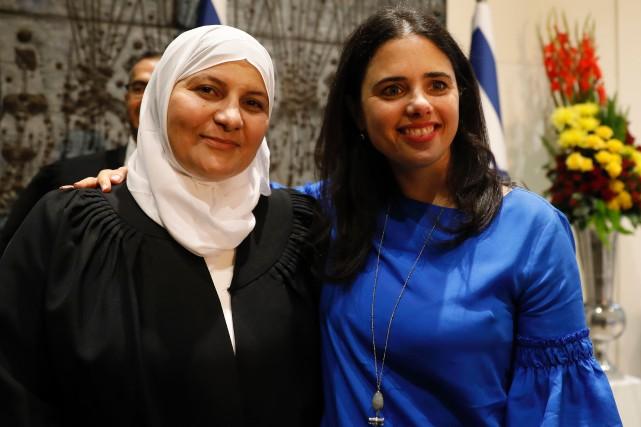 Hana Khatib, première femme juge d'un tribunal islamique... (Photo Gali Tibbon, Agence France-Presse)