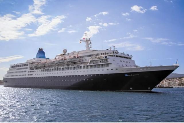 C'est leSaga Sapphire, un navire qui peut accueillir... (Ville de Lévis)
