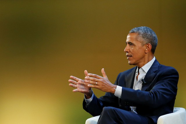 L'ancien président Barack Obama sera à Montréal le... (Photo Alessandro Garofalo, REUTERS)