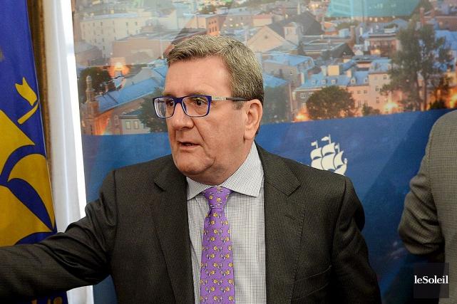 Le maire de Québec Régis Labeaume... (Le Soleil, Erick Labbé)