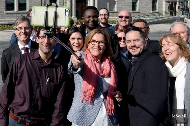 Les candidats annoncés de Démocratie Québec se sont... (Le Soleil, Erick Labbé)