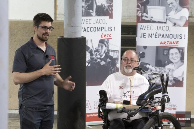 Pierre-Olivier Hudon a quitté Trois-Rivières en monocycle, lundi,... (Stéphane Lessard, Le Nouvelliste)