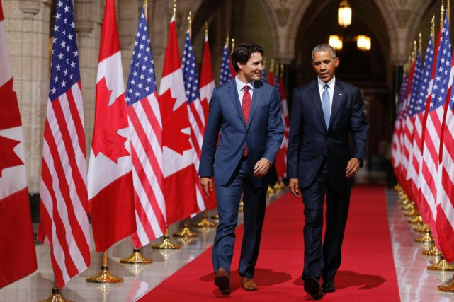 Justin Trudeau, que Barack Obama considère comme un... (ARCHIVES AFP)