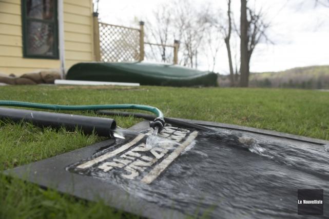 La baisse du niveau de l'eau peut signifier... (Stéphane Lessard, Le Nouvelliste)