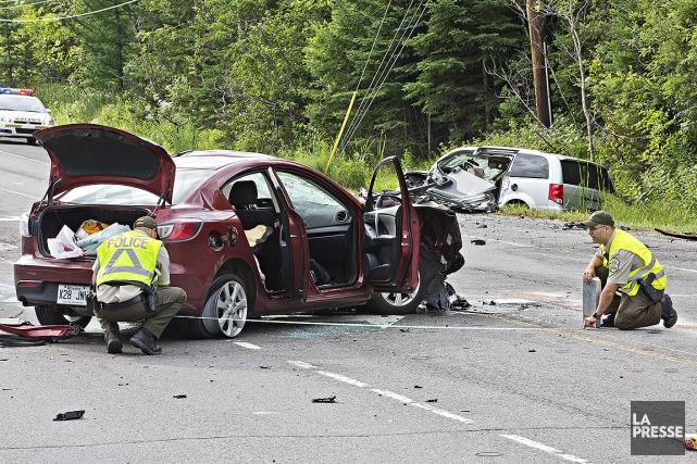 Sur cette photo, un accident mortel sur la... (Patrick Sanfaçon, La Presse)