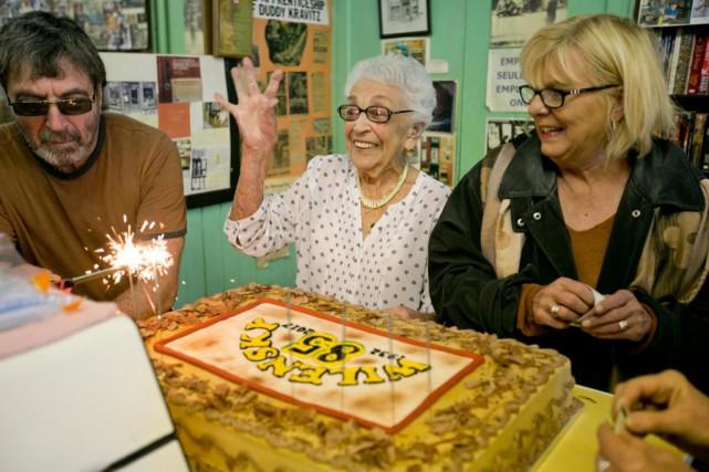 Ruth Wilensky, âgée de 97ans, a célébré les... (Photo David Boily, La Presse)