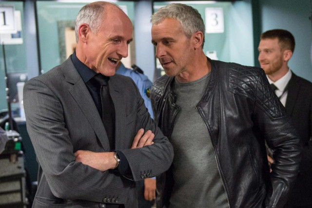 Colm Feore et Patrick Huard, pendant le tournage... (PHOTO PAUL CHIASSON, ARCHIVES LA PRESSE CANADIENNE )