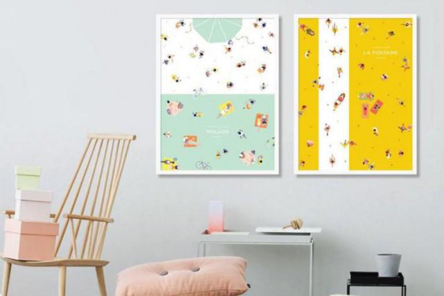 La petite entreprise Marlone a créé quatre affiches... (Photo fournie par Marlone)