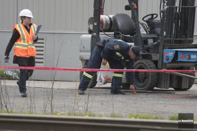 L'homme victime d'un accident de travail lundi à... (Stéphane Lessard, Le Nouvelliste)