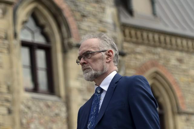 Le vérificateur général du Canada, Michael Ferguson, arrive... (La Presse canadienne, Sean Kilpatrick)