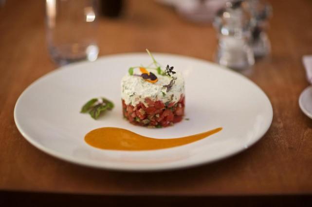 Tartare de tomates aux graines de tournesol et... (Photo André Pichette, La Presse)