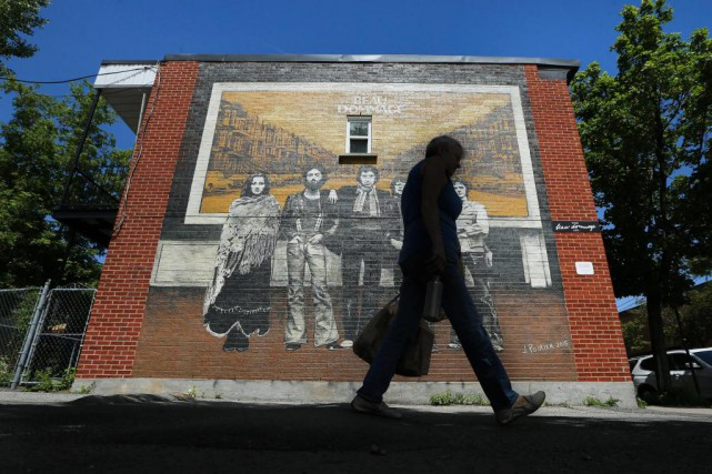 Cette murale, inaugurée en juin2015 près du6760Saint-Vallier, représente... (Photo Martin Chamberland, La Presse)