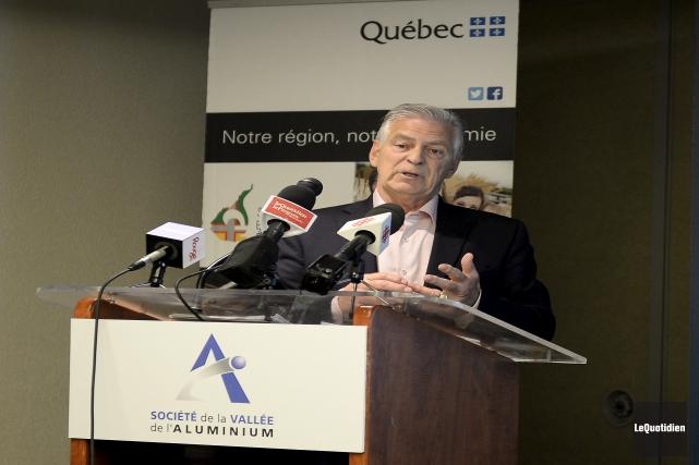 Le président de la Société de la Vallée... (Photo Le Quotidien, Jeannot Lévesque)