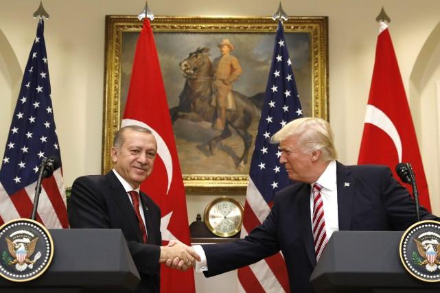 Recep Tayyip Erdogan et Donald Trump se sont... (REUTERS)