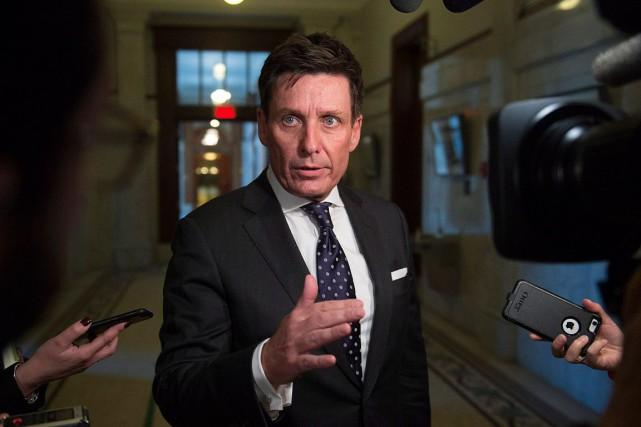 Le président du Conseil du trésor, Pierre Moreau,... (Archives, La Presse canadienne)