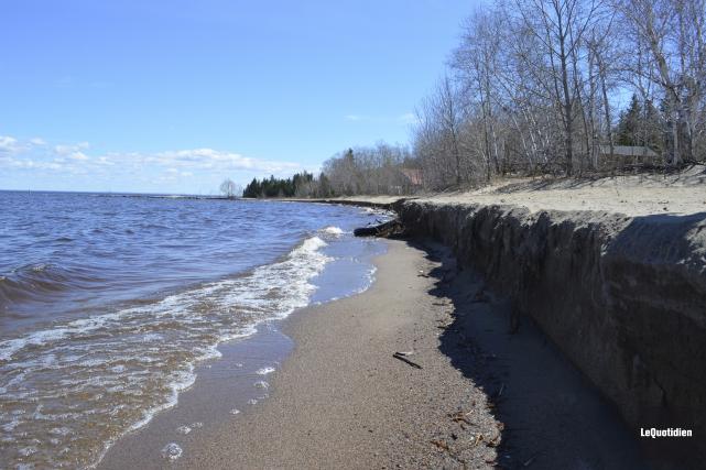 Le niveau du lac Saint-Jean a causé la... (Le Quotidien, Louis Potvin)