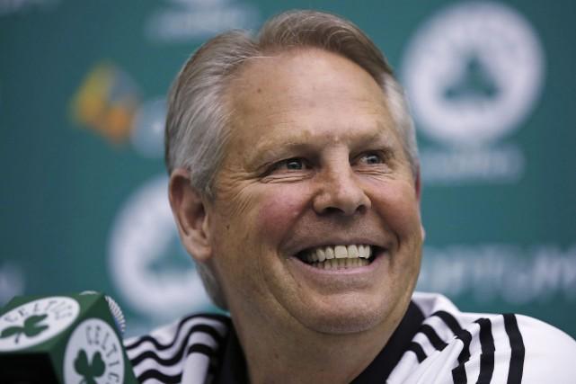 Le président des Celtics de Boston Danny Ainge... (Phoot Charles Krupa, AP)