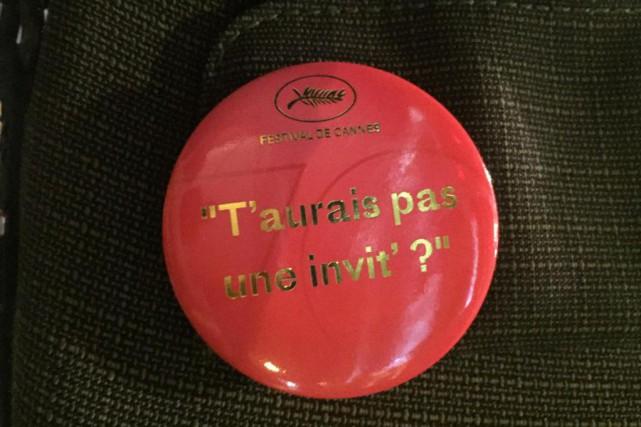 Le badge reçu par notre chroniqueur Marc Cassivi... (PHOTO FOURNIE PAR MARC CASSIVI)