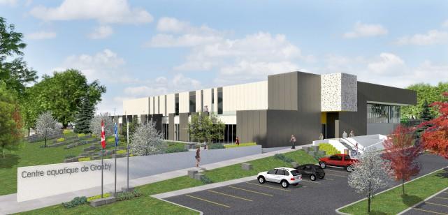 Les plans du futur centre aquatique de Granby... (fournie)