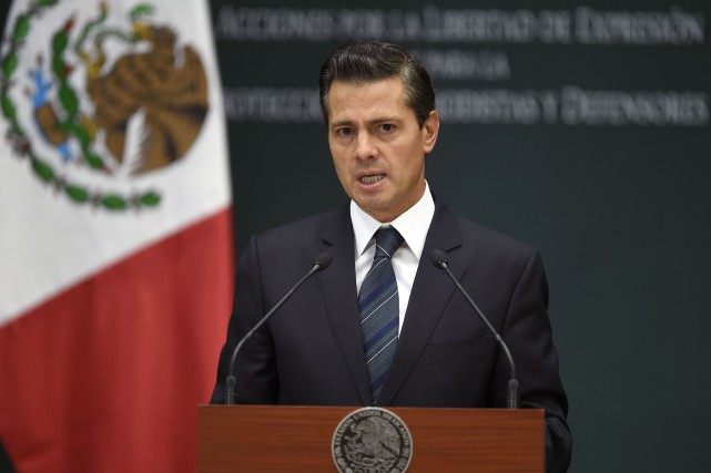 Enrique Peña Nieto... (PHOTO AFP)