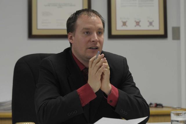 Le maire de Notre-Dame-du-Mont-Carmel, Luc Dostaler, est heureux... (Sylvain Mayer, Le Nouvelliste)