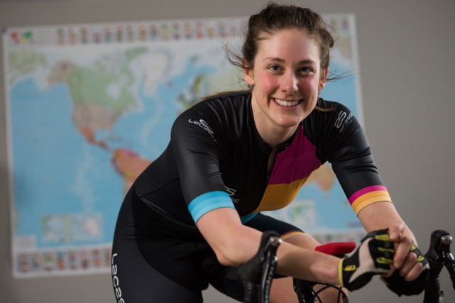 La «Cyclovore» Jessica Bélisle a entrepris un tour... (François Gervais, Le Nouvelliste)