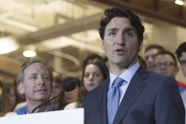 Le premier ministre Justin Trudeau a participé à... (La Presse canadienne)