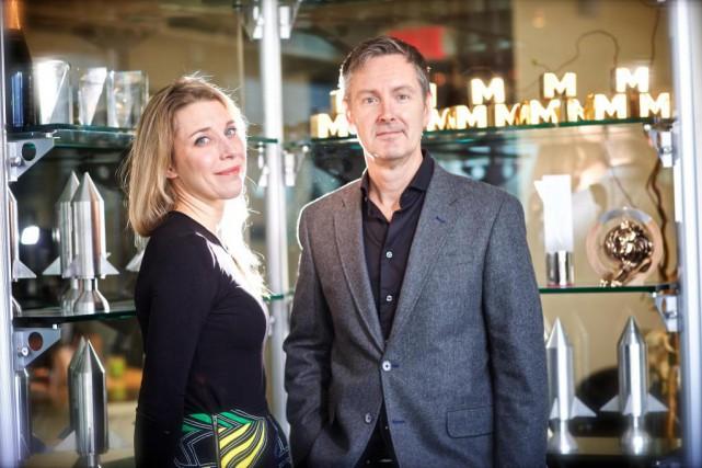 Karine Courtemanche, présidente de Touché!, etAlain Desormiers, fondateur... (Photo André Pichette, archives La Presse)
