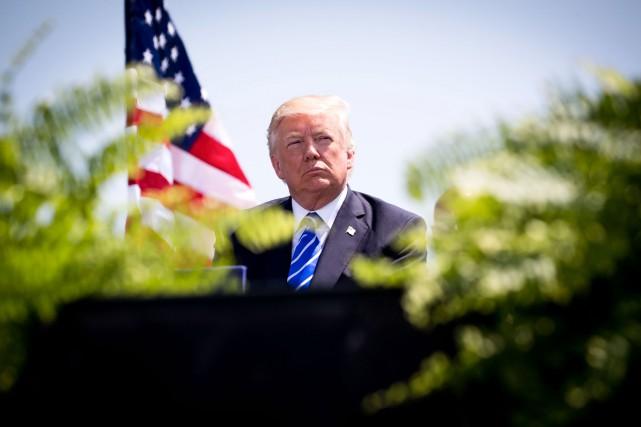 Donald Trump est le premier président depuis Jimmy... (Doug Mills, The New York Times)