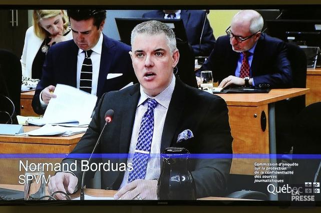 Normand Borduas durant son témoignage devant la commission... (Robert Skinner, La Presse)