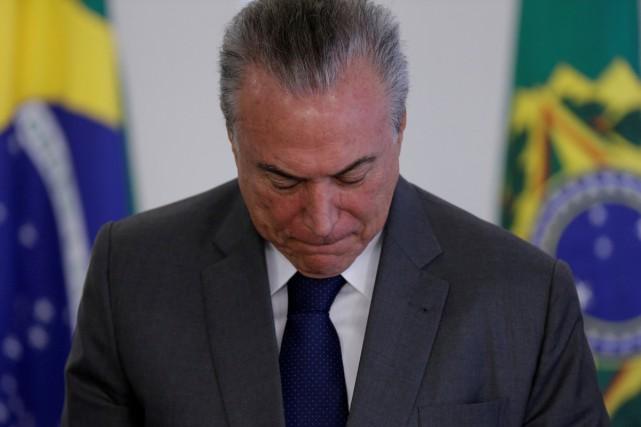 Le président du Brésil Michel Temer est accusé... (PHOTO ARCHIVES REUTERS)