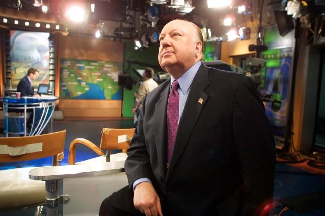 Roger Ailes dans les studios de Fox News... (ARCHIVES AP)