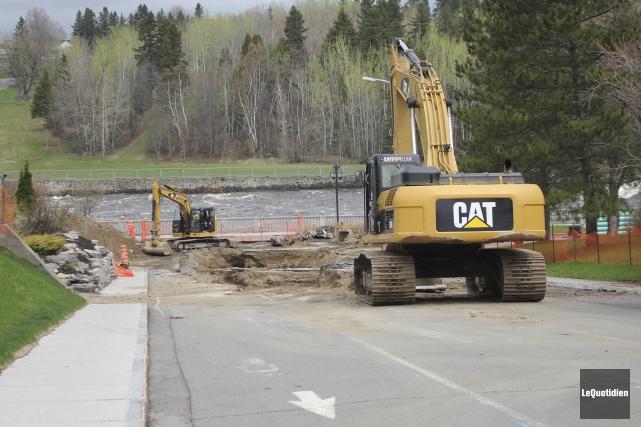 Le chantier sera en opération du lundi au... (Le Quotidien, Isabelle Tremblay)