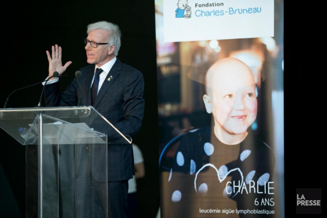 Pierre Bruneau a annoncé un don de 22 millions de la... (PHOTO DAVID BOILY, LA PRESSE)