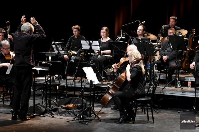 Dirigé par Luc Beauchemin, l'Ensemble Talisman a interprété... (Le Quotidien, Rocket Lavoie)